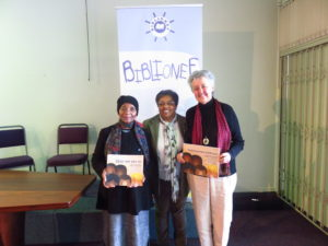 From left to right: Dr Sindiwe Magona, Jean Williams and Marlene Rousseau