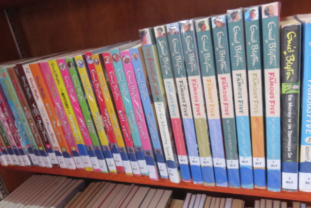 An example of the books donated