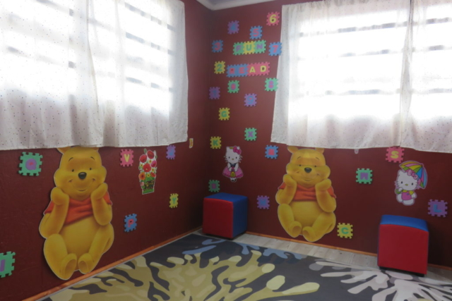 A fun reading corner for younger learners