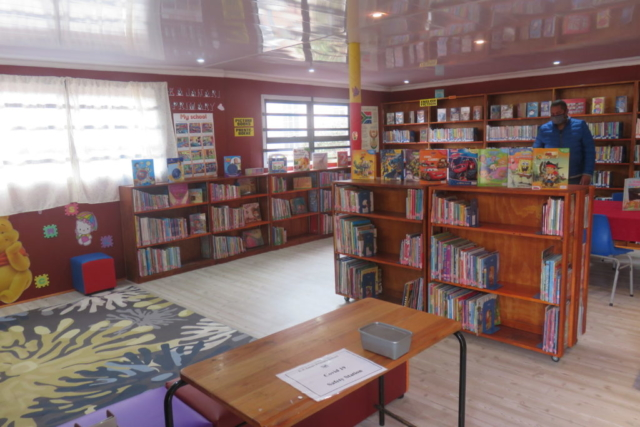 Stepping inside E.A. Janari Primary's library