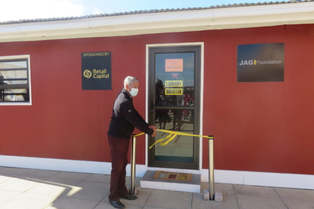 The official opening of E.A. Janari Primary School's library